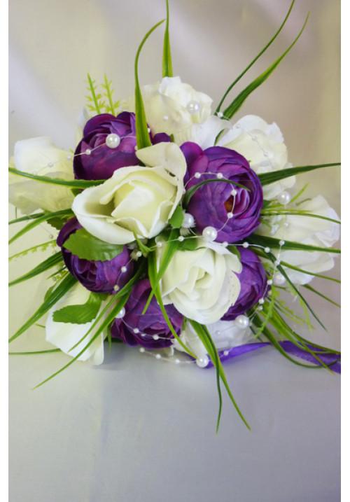 Букет Алика бело-фиолет