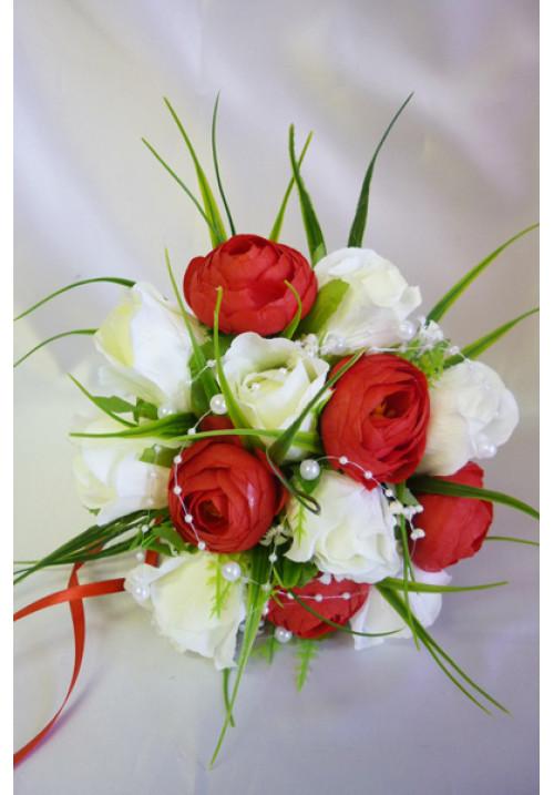 Букет Алика бело-красный