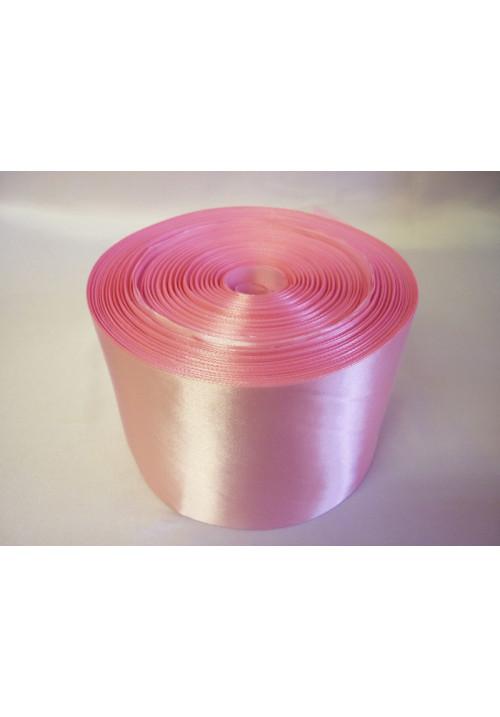 Лента атлас 10см/100м розовая