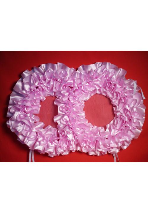 Кольца №10 атлас розовые