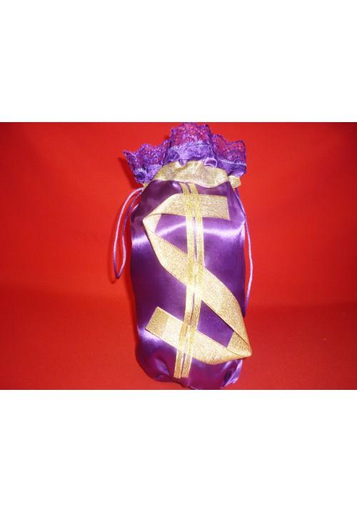Мешок для денег  $  (упак 5 шт.) фиолетовый