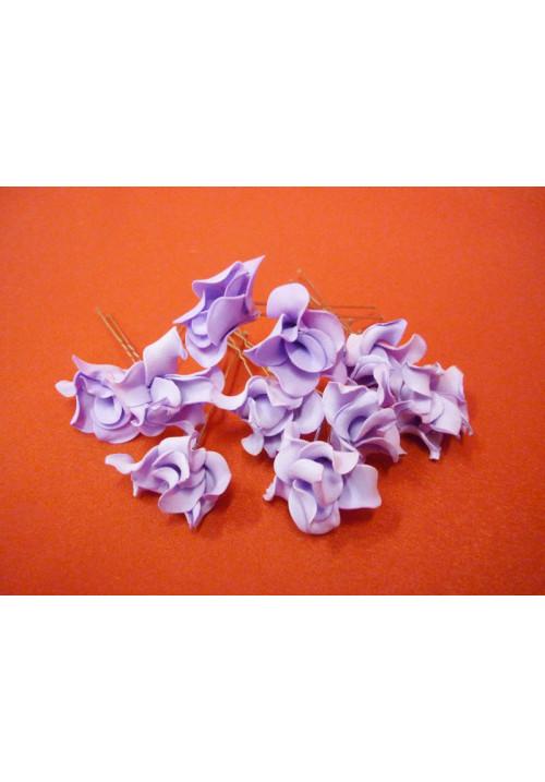 Цв. на шпильке лилия (уп.10шт) (сиреневая)