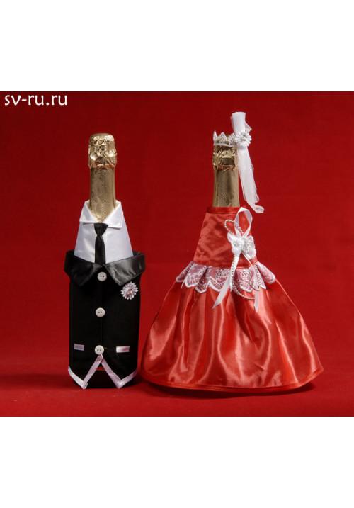 Костюм на шампанское №11 красный (5пар)