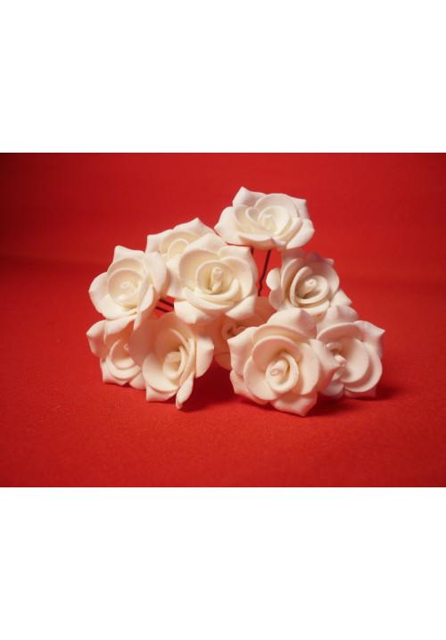 Цв. на шпильке роза №2 (уп.10шт) (айвори)