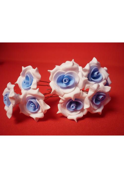 Цв. на шпильке роза №2 (уп.10шт) (бел-гол)