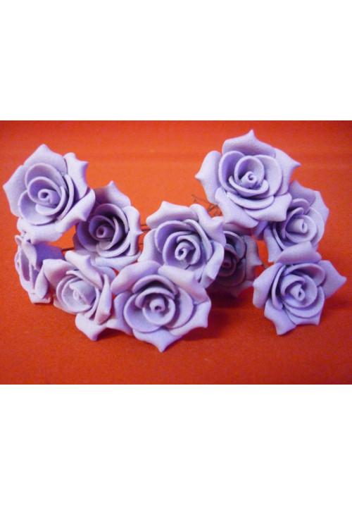 Цв. на шпильке роза №2 (уп.10шт) (сирень)