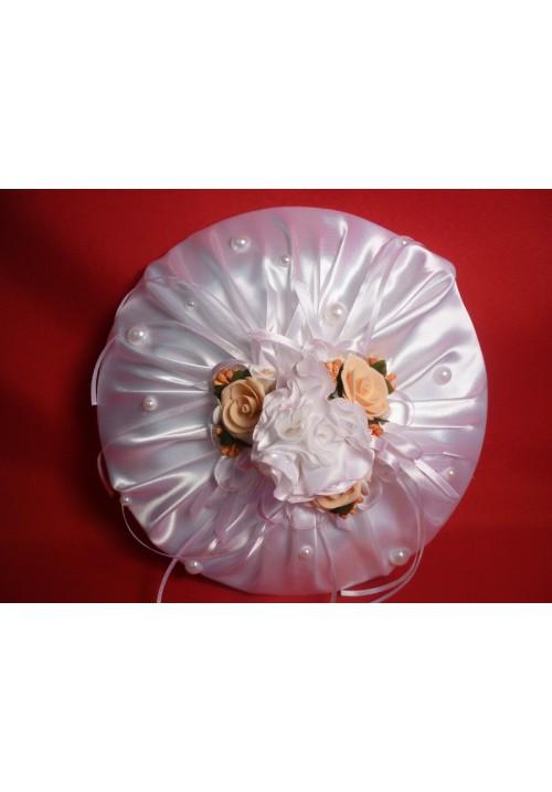 Тарелка для битья №9 бел-персик
