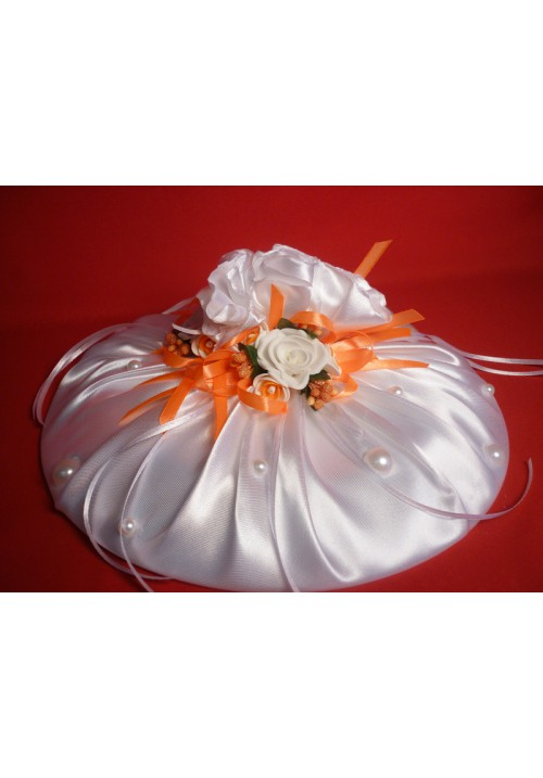 Тарелка для битья №9 бел-оранж