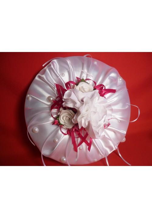 Тарелка для битья №9 бел-малина