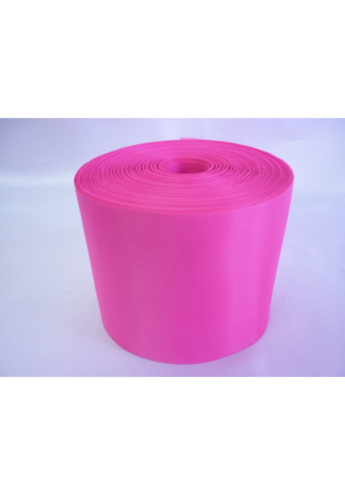Лента полиэстер 10см/100м ярко-розовая