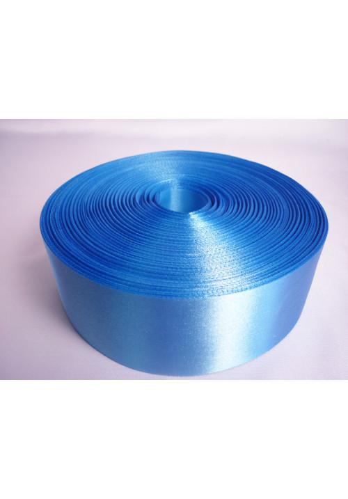 Лента атлас 5см/100м голубая
