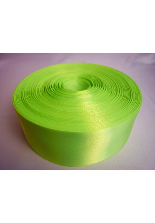 Лента атлас 5см/100м ярко-салатовая
