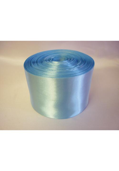 Лента атлас 10см/100м голубая