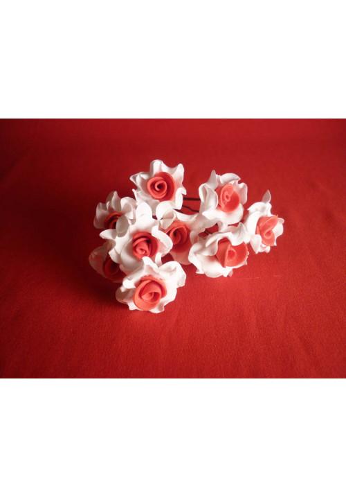 Цв. на шпильке лилия (уп.10шт) (бел-красн)