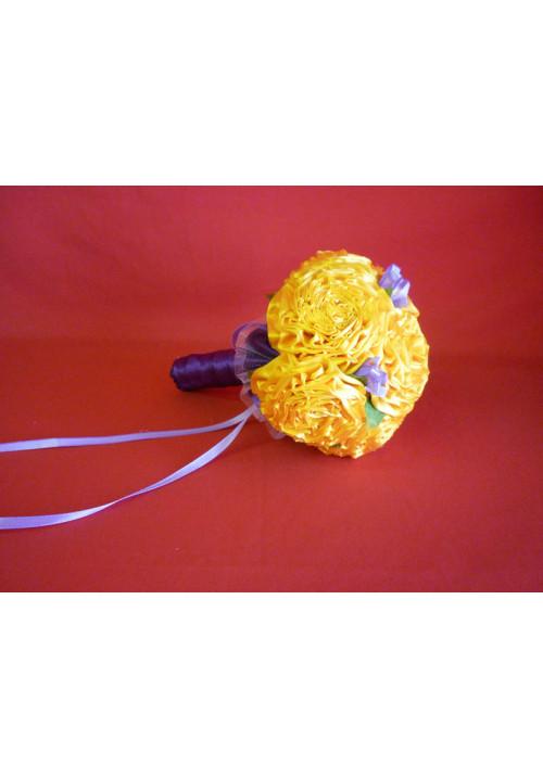 Букет Роза атлас №1 жёлто-фиолет