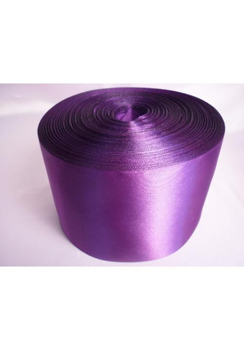 Лента атлас 10см/100м фиолетовая