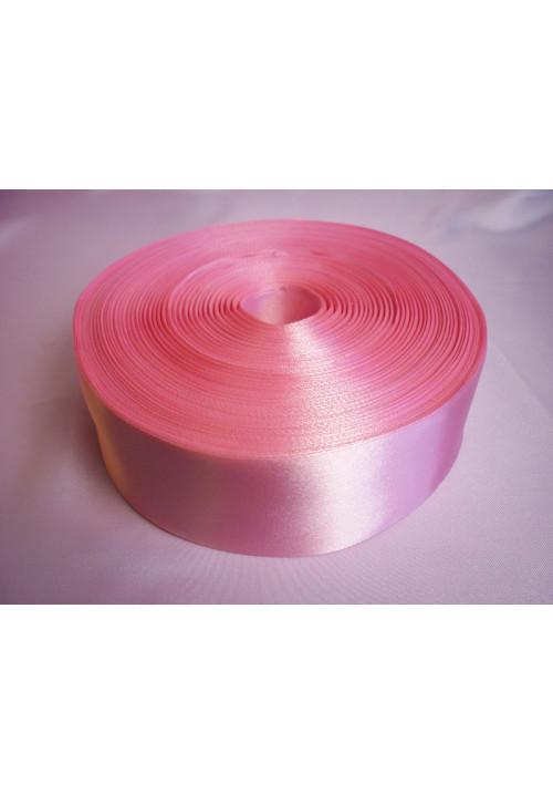 Лента атлас 5см/100м розовая