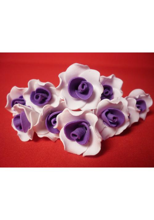 Цв. на шпильке лилия (уп.10шт) (бел-фиолет)