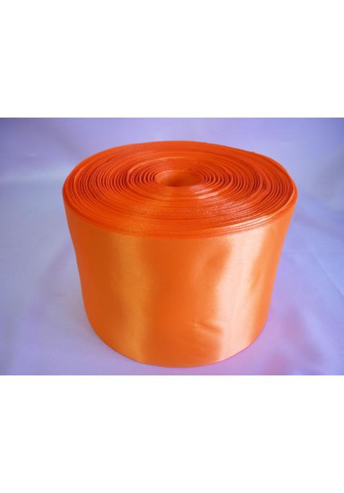 Лента атлас 10см/100м оранжевый
