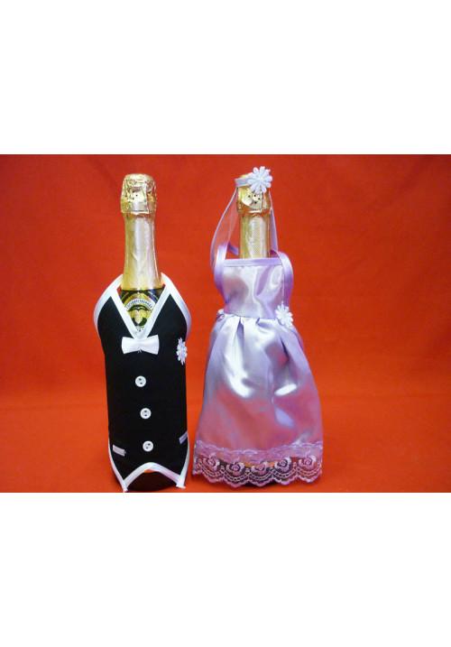 Костюм на шампанское №1 сирень (5пар)