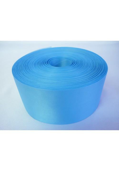 Лента полиэстер 5см/100м голубая
