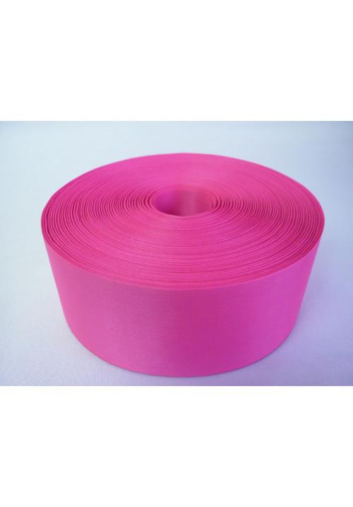 Лента полиэстер 5см/100м ярко-розовая