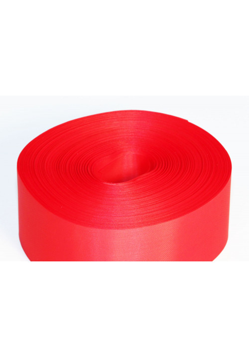 Лента полиэстер 5см/100м красная
