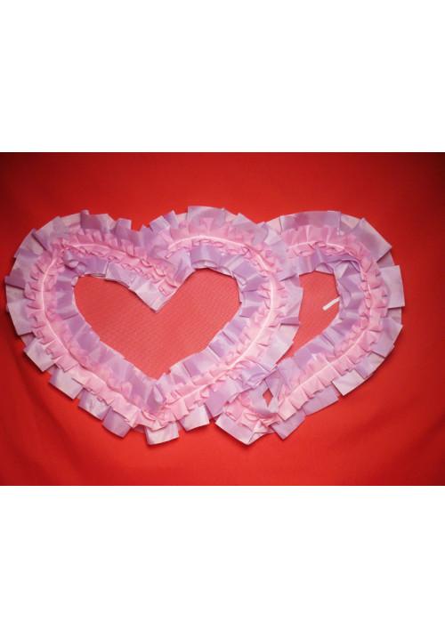 Сердца №10/5 п/э сиренево-розовые