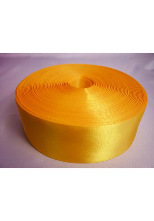 Лента атлас 5см/100м жёлтая