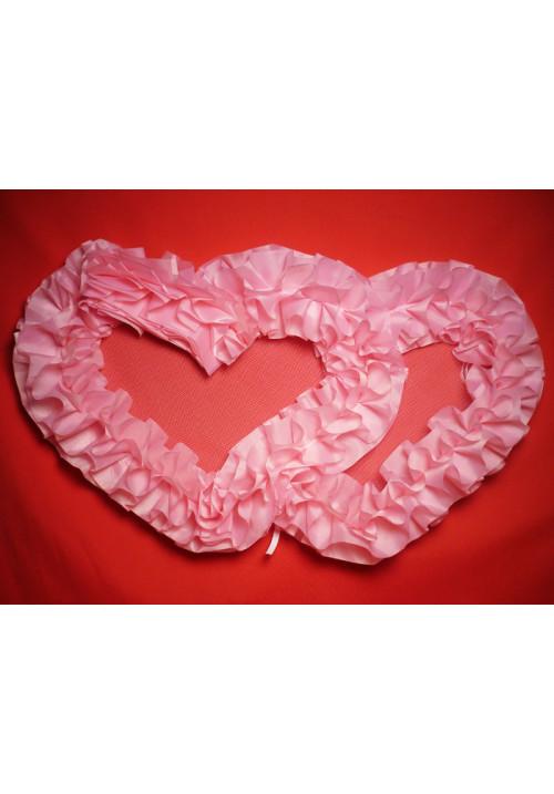 Сердца №10 п/э розовые