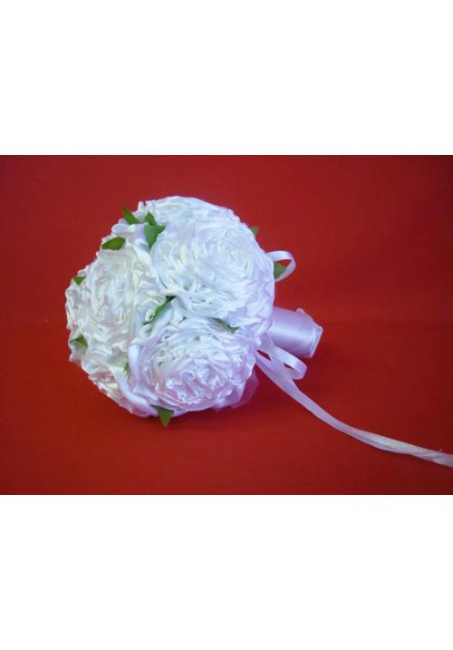 Букет Роза атлас белый