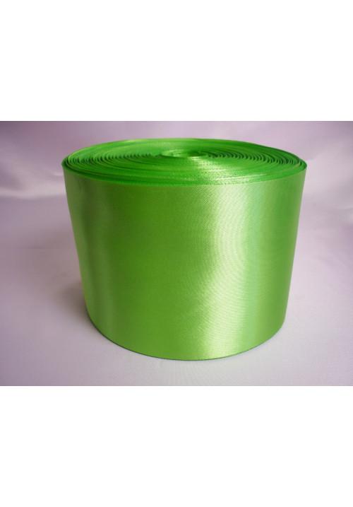 Лента атлас 10см/100м ярко-салатовая