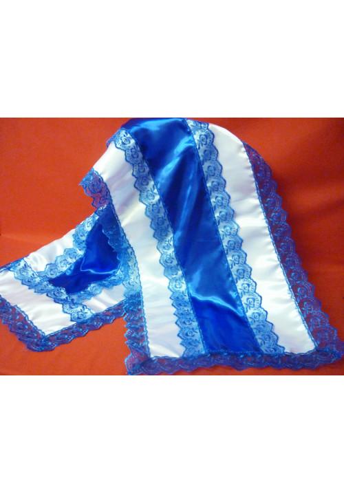 Рушник атлас синий