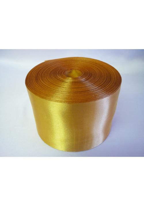 Лента атлас 10см/100м золото
