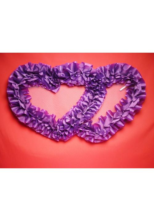 Сердца №10 п/э фиолетовые