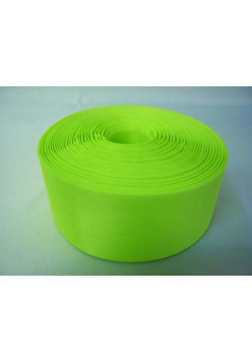 Лента полиэстер 5см/100м ярко-салатовая