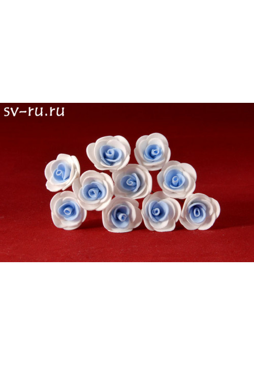 Цв. на шпильке роза (уп.10шт) (бел-гол)