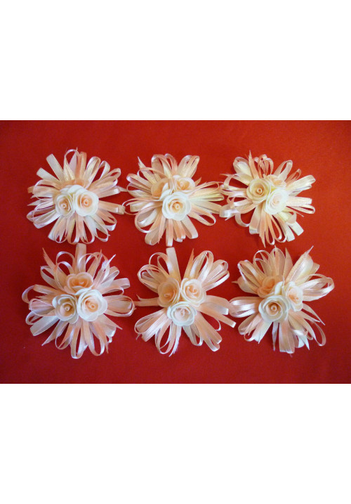 Бутоньерка бело-розовая (уп.6 шт)
