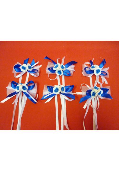 Бутоньерка №1 бело-синяя (уп.6шт)