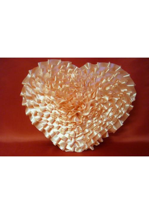 Сердце атлас персик
